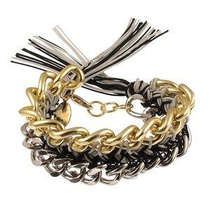 Jewelry - Handmade braided tassel chain bracelet